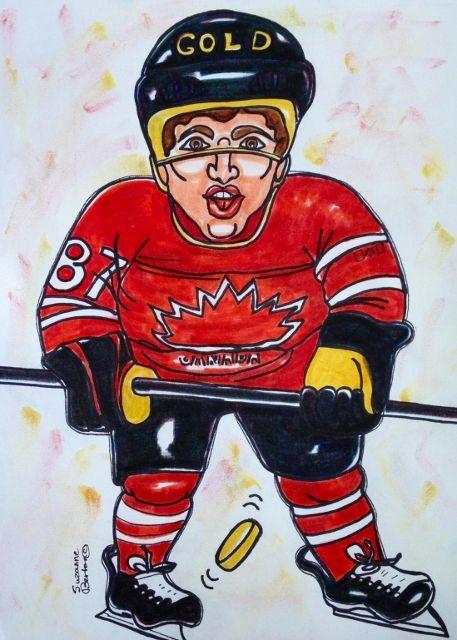 Captain Sidney Crosby Men's Sochi 2014 Canadian Gold Medal Hockey Winners   http://www.artmajeur.com/en/art-gallery/artwork/canadian-olympic-sidney-crosby-men-hockey-sochi2014-by-suzanne-berton-jpg/7521964