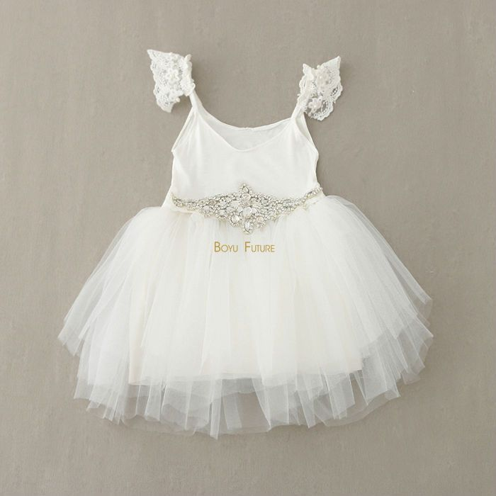 Cheap dresses baby girls clothes, Buy Quality girls clothes directly from China clothes girls Suppliers: Summer 2016 Girl Dress Princess Crystal Diamond Belt White Lace Flower Girl Dresses Baby Girl Clothes Girls Clothes 18m-5years