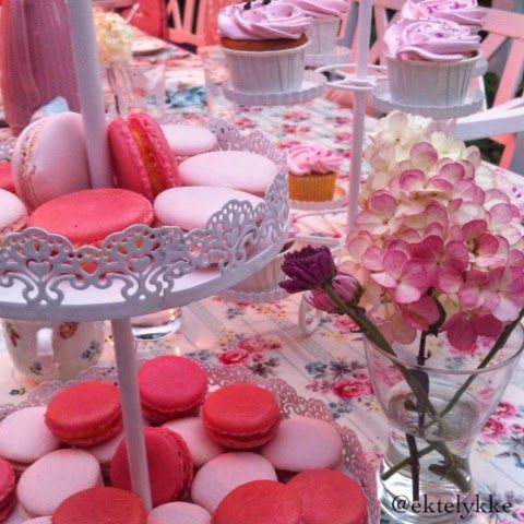French macarons and cupcakes