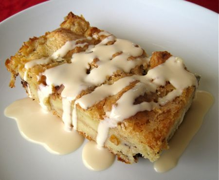 White and Dark Chocolate Bread Pudding with Irish Cream Sauce - Made this 6-7 years ago for Christmas. It was really very good.