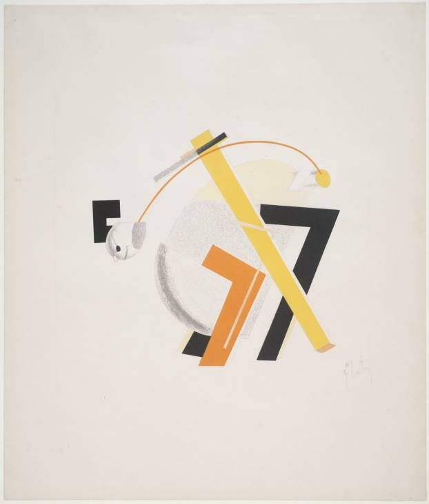 El Lissitzky '8. Old Man (Head 2 Steps behind)', 1923