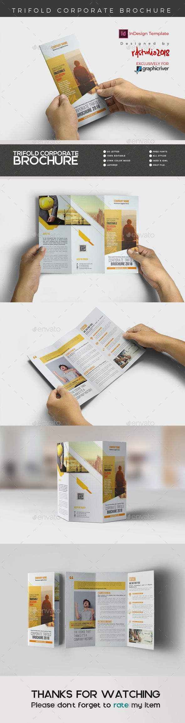 Triflold Brochure Template InDesign INDD