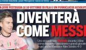 Dybala se transformará en un Messi Tag Duro: Fútbol Paulo...  Dybala se transformará en un Messi  Tag Duro:  Fútbol  Paulo Dybala está en boca de todos gracias a sus goles. Hizo dos en el 4-0 de Juventus sobre Udinese y eso le valió estar en la tapa de los medios más importantes de Italia.  Como en elCorriere Dello Sport donde dicen que se transformará en un Lionel Messi.  Eso dice la tapa del diario deportivo Corriere Dello Sport.El delantero cordobés de 22 años es figura en Juventus y…
