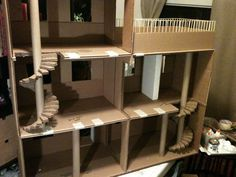 Lola's Mini Homes: Monster High Dollhouse. The hubs insists that dollhouses with multiple stories have to have real stairs.
