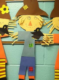 Life in First Grade: A Fox and a Kit, Scarecrows, and Johnny Appleseed door