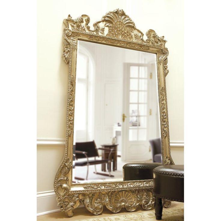 Traditional Beveled Full Length Mirror | Ornate mirror ...