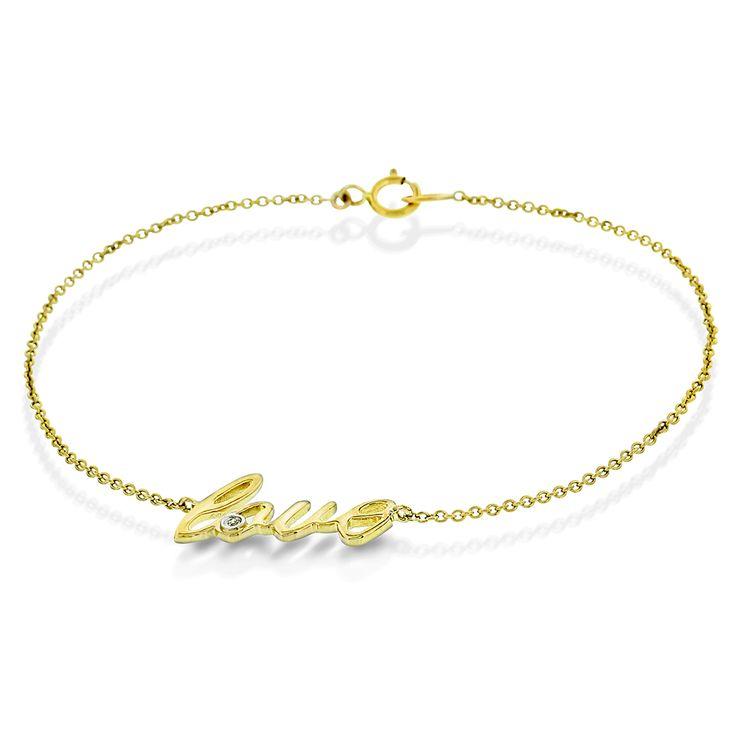 Armbånd i gull med diamant 0,01ct WP