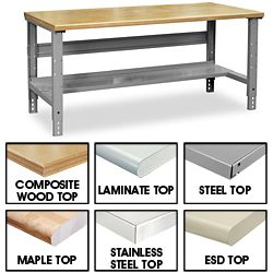 Use As A Desk In Industrial Style Room Work Bench