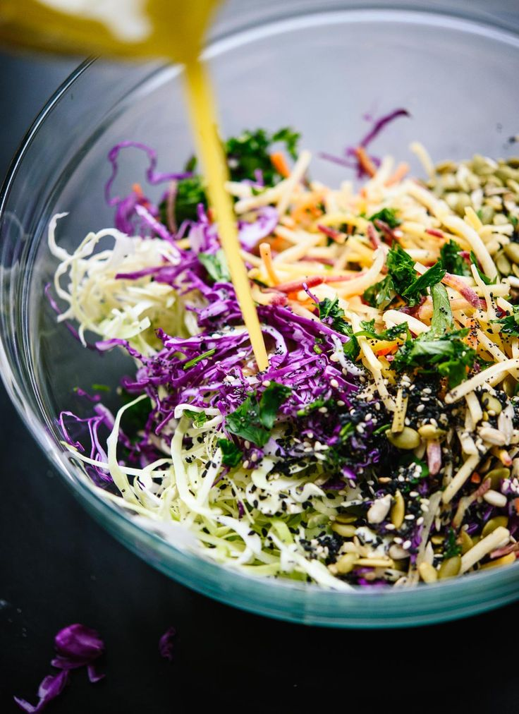 Amazing vegan coleslaw with a simple lemon dressing - cookieandkate.com