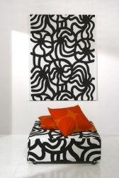 Pattern Joonas design Maija Isola, Marimekko upholstery fabrics.