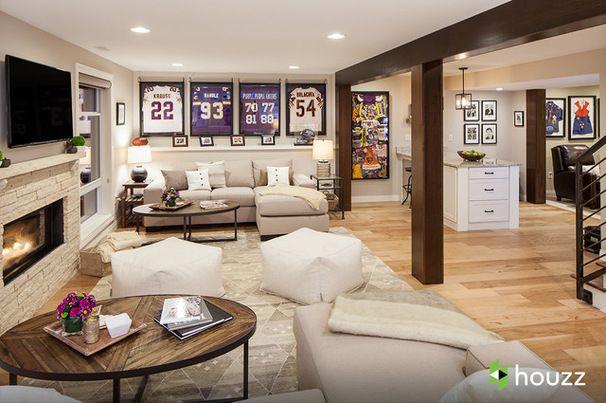 Ashton Kutcher's parents basement, design Catherine Renae Thomas Design Co.