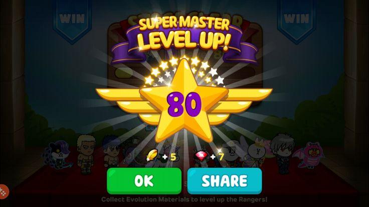 Attained Super Master Level 80! #milestone #super #master #levelup #80 #linerangers