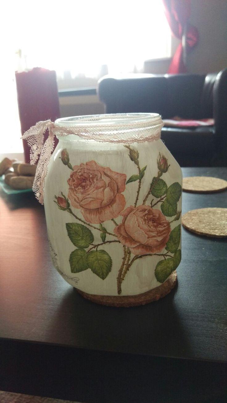 Diy Nutella jar flowers