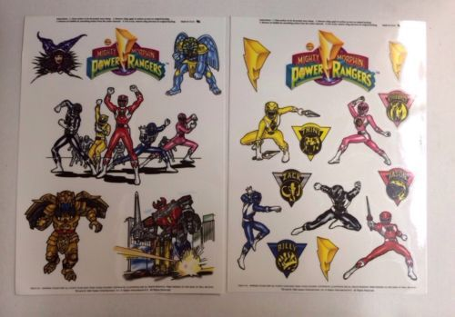 3-Sets-Of-New-Power-Ranger-Window-Clings-Saban-Entertainment-2-Pieces-In-Set