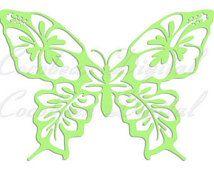 Farfalla carta, file in formato svg, file dxf, modello di taglio, svg dxf…