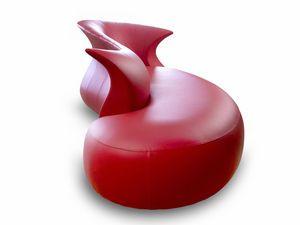 Sofá de diseño original / de cuero - AMPHORA