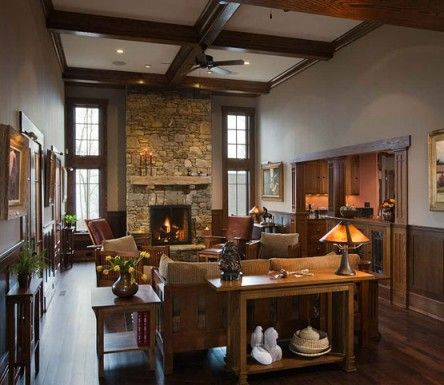 79 best arts and crafts style interior design images on for Modern craftsman interior design