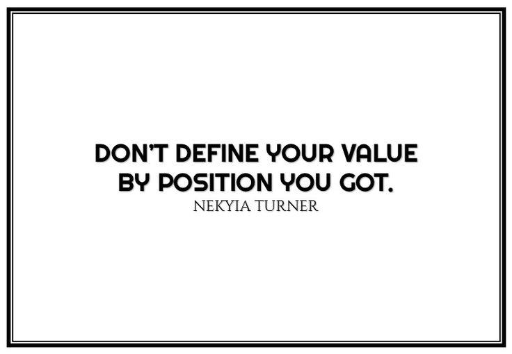 #90 don't define your value...