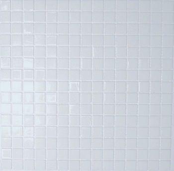 P tes de verre blanc lisse mosaique salle de bain ou for Carrelage piscine blanc