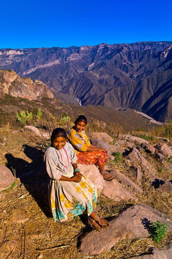 Tarahumara Indian Sisters, Urique Canyon Chihuahua