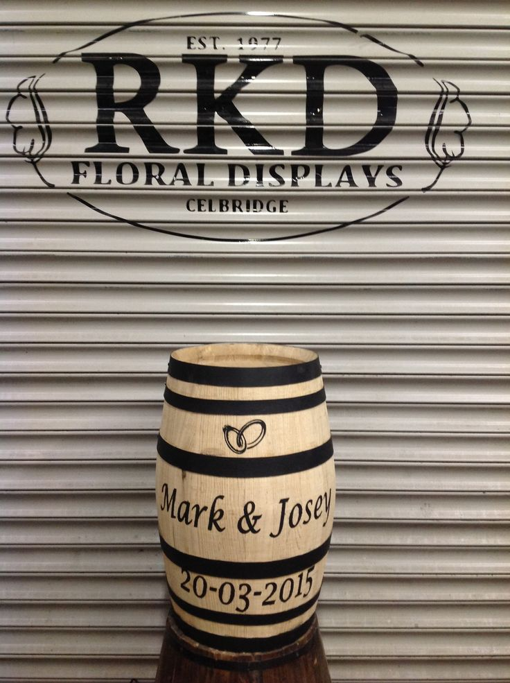 Weeding Barrel Created By RKD Floral Displays
