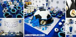 """Real Madrid Soccer /Football Themed Birthday Party"""
