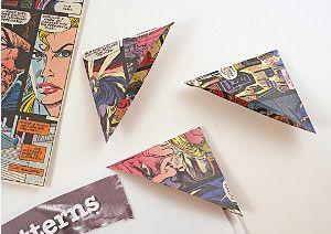 Comic Book Corner Bookmarks- too cool!   AllFreeKidsCrafts.com