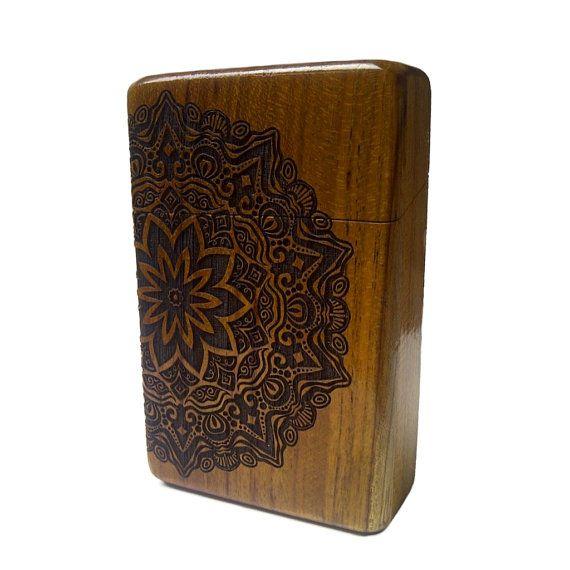 Mandala Java Teak wood Cigarette Case by Maliojava on Etsy