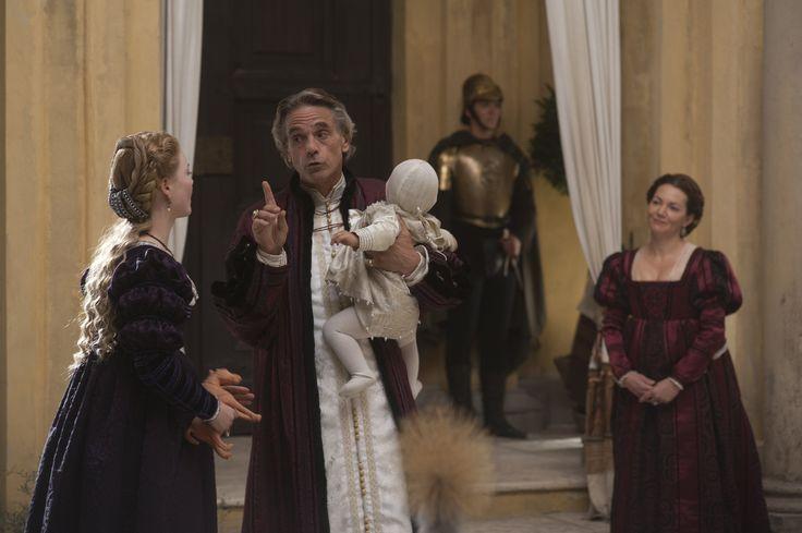 """The Borgias"", TV series, Showtime, 2011-2013. Holliday Granger as Lucrezia Borgia, Jeremy Irons as Rodrigo Borgia and Joanne Whalley as Vanozza Cattaneo."