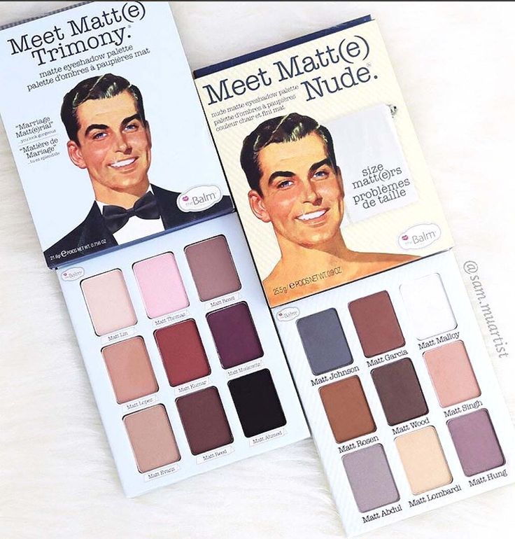 Our Meet Matt(e)Trimony palette features 9 warm matte eyeshadows, while our Meet Matt(e) Nude palette has 9 cool matte shadow options! With so many guys to choose from, youre sure to find your perfect shade, no matt(e)r what!;) Photo by sam.muartist. makeup products - http://amzn.to/2jywVxP
