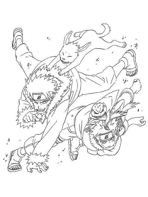 Free Print Naruto Coloring Pages