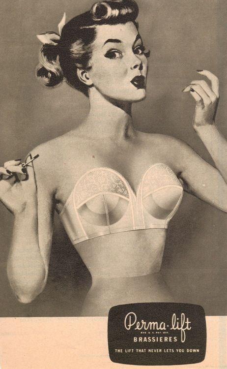 1950s Perma-lift bullet bra ad