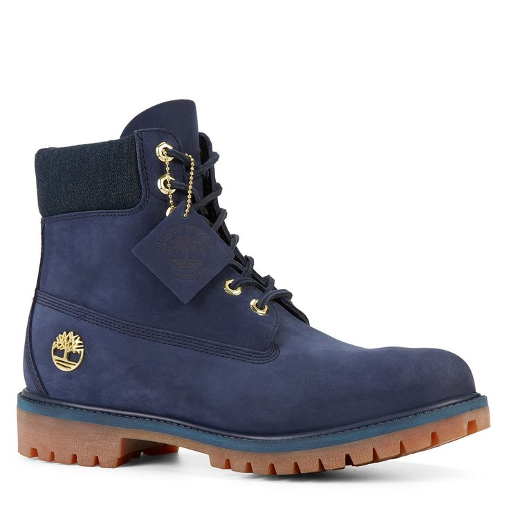 navy blue premium timberland therisen boots boots
