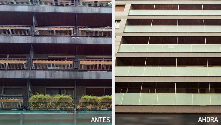 Hoy os contamos la historia del antes y el después de esta #fachada en Zumárraga, Gipúzcoa. #Rehabilitación y mejora energética, las claves que impulsan una nueva forma de #arquitectura.