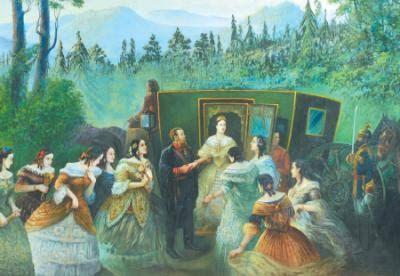 Resultado de imagen para La corte de Maximiliano y Carlota