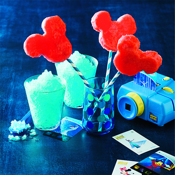 Make fruit fun with Mickey Mouse Watermelon Ear Pops. #MickeyMouse #Disney #Watermelon #CookingWithKids