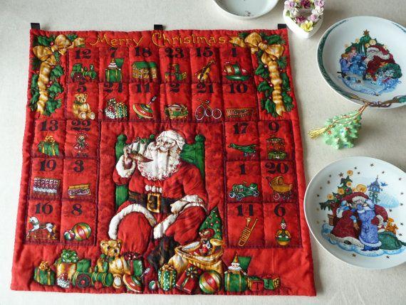 Quilted Advent Calendar   Santa Claus by Aimezvousclassique