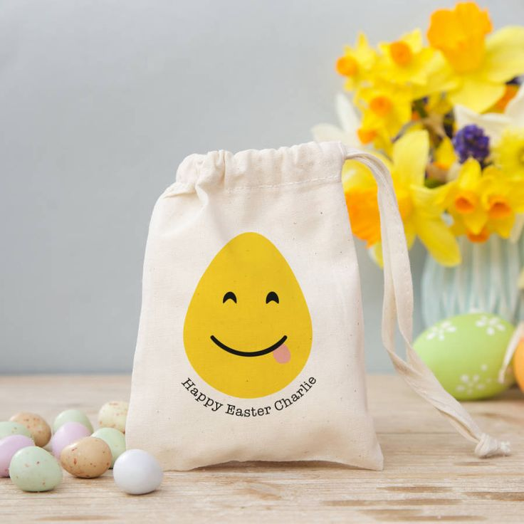 'Easter Emoji' Easter Bag With Sweets - new photo @notonthehighst