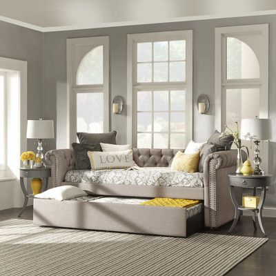 FREE SHIPPING! Shop Wayfair for House of Hampton Carthusia Daybed with Trundle - Great Deals on all Furniture products with the best selection to choose from!
