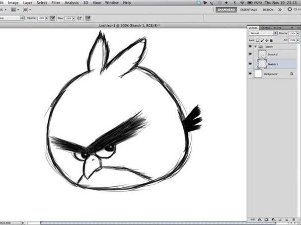 creativeA Simple Way To Make Digital Painting Angry Birds #psd #tutorial #photoshop #graphic design by - www.psd5.com