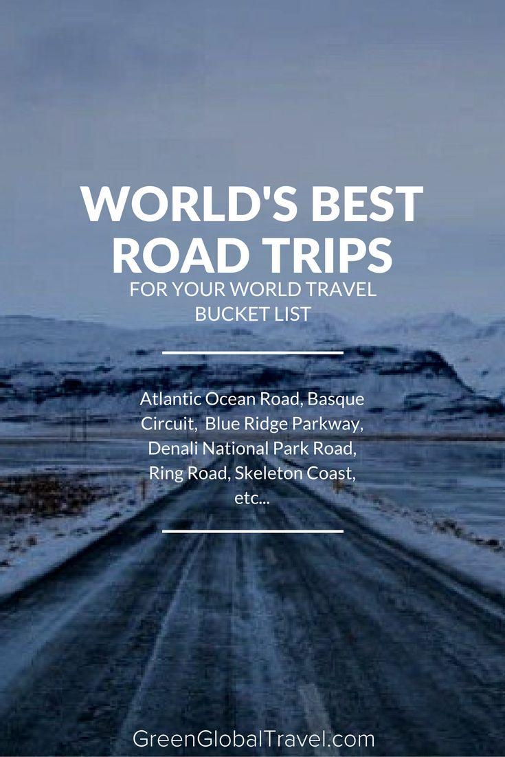 Since air travel can be such a hassle, look at these road trips and load up your car! We include countries such as Norway, France, the USA, Australia, China, and more! Not only are these roads beautiful, but they also have quite an amazing history. Road trip tips | Road trip ideas for kids | Best troad trips in America bucket lists | Car travel ideas - @greenglobaltrvl