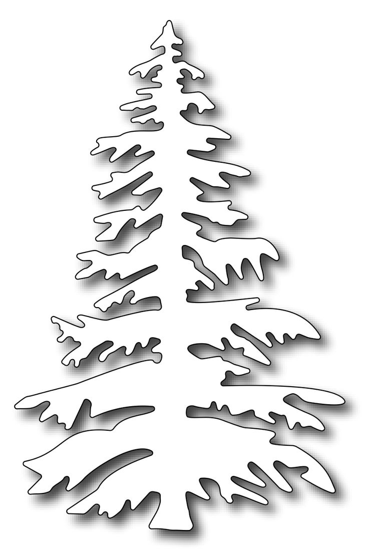 Frantic Stamper - Precision Dies - Oregon Fir Tree