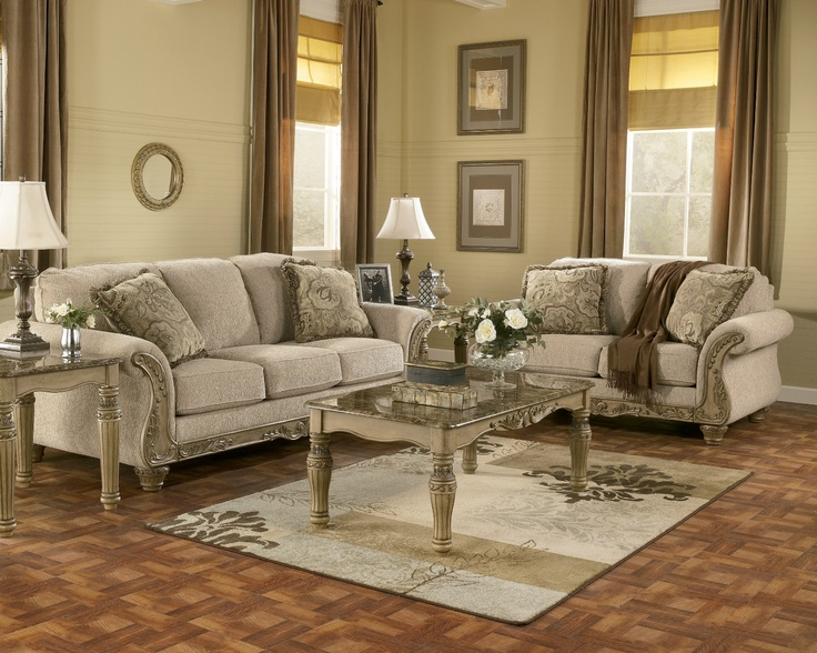 Signature Design By Ashley Cambridge   South Coast Traditional Sofa With  Carved Wood Accents At Del Sol Furniture