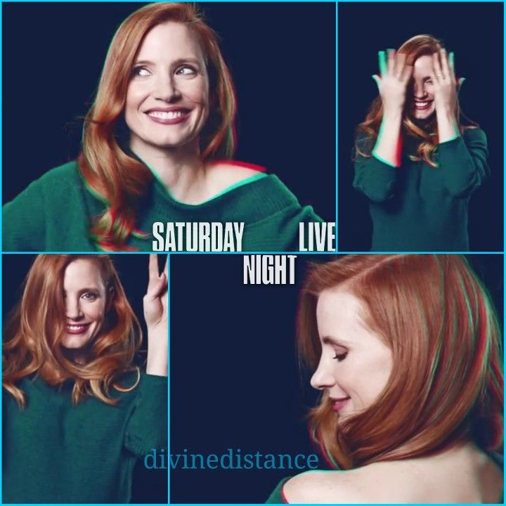 Jessica Chastain - SNL host, January 20th.