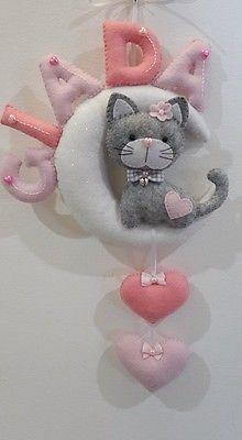 fiocco nascita con nome PERSONALIZZABILE per maschietto o femminuccia in Infanzia e premaman, Nanna, Cameretta e decorazioni | eBay