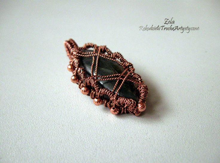 "Labradorite in a copper ""outfit"" ;)"