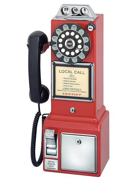 The very familiar 3-slot style pay phone was first introduced in the 1950's and remained virtually unchanged until 1965. This appropriately christened prepay-style pay station will take you back to th