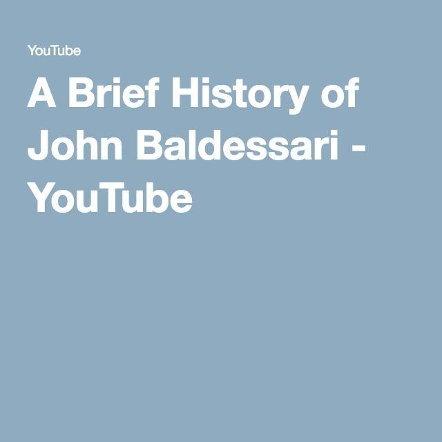 A Brief History of John Baldessari - YouTube