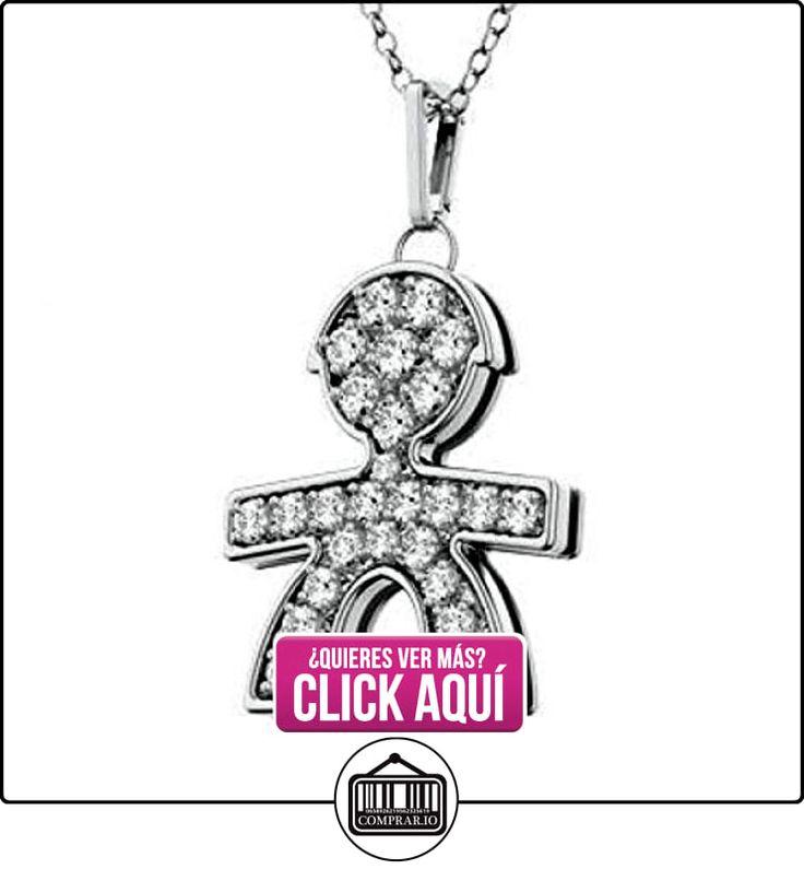 Le Bebè-18K oro blanco 0.17ct diamantes naturales Boy colgante collar personalizable con nombre  ✿ Joyas para hombres especiales - lujo ✿ ▬► Ver oferta: http://comprar.io/goto/B00FDXKHM0