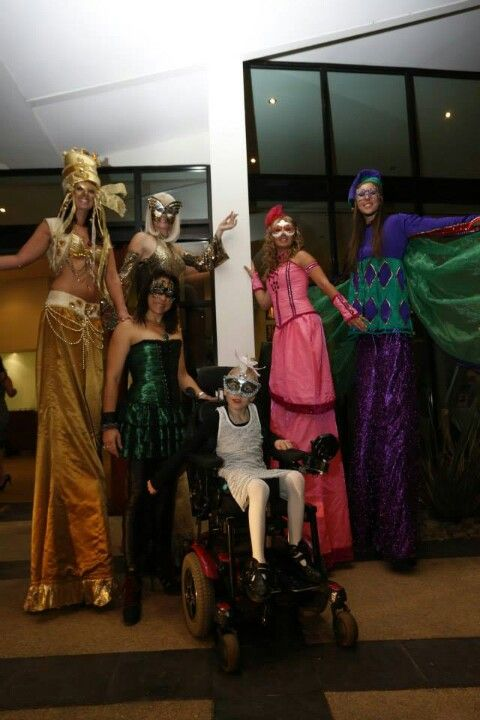 Charity2Charity masquerade ball 2013 with all the stiltwalking girls from #novastarproductions  Check out www.novastarproductions.com.au